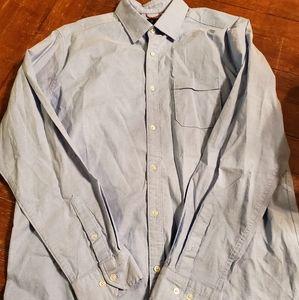 Under Armour blue xl button down shirt